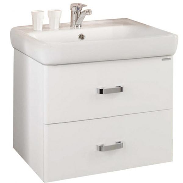 Америна 60 Белая глянцеваяМебель для ванной<br>Тумба под раковину Акватон Америна 60 1A135401AM010.<br>Лаконичная и стильная модель с двумя выдвижными ящиками.<br>Особенности:<br>Нижний ящик - широкий и вместительный. Он предназначен для хранения крупных предметов. В верхнем ящике устроена удобная организация пространства, позволяющая хранить мелкие вещи.<br>Вместительные ящики, рассчитанные на нагрузку до 25 кг.<br>Направляющие нижнего крепежа обеспечивают жесткое и надежное крепление ящиков.<br>Плавный ход ящиков со встроенными доводчиками. <br>Организовано нижнее подключение труб водоснабжения и канализации. <br>Материал корпуса: ДСП с ламинированным покрытием. Этот материал обладает повышенной влагостойкостью и сопротивляемостью износу. <br>Материал фасандых деталей: МДФ с пятислойной покраской.<br>