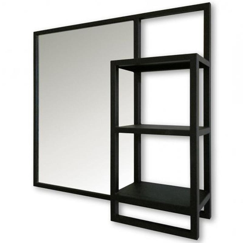 Зеркало Silver Mirrors Bruklin Light 80 ФР-1760 Черное матовое