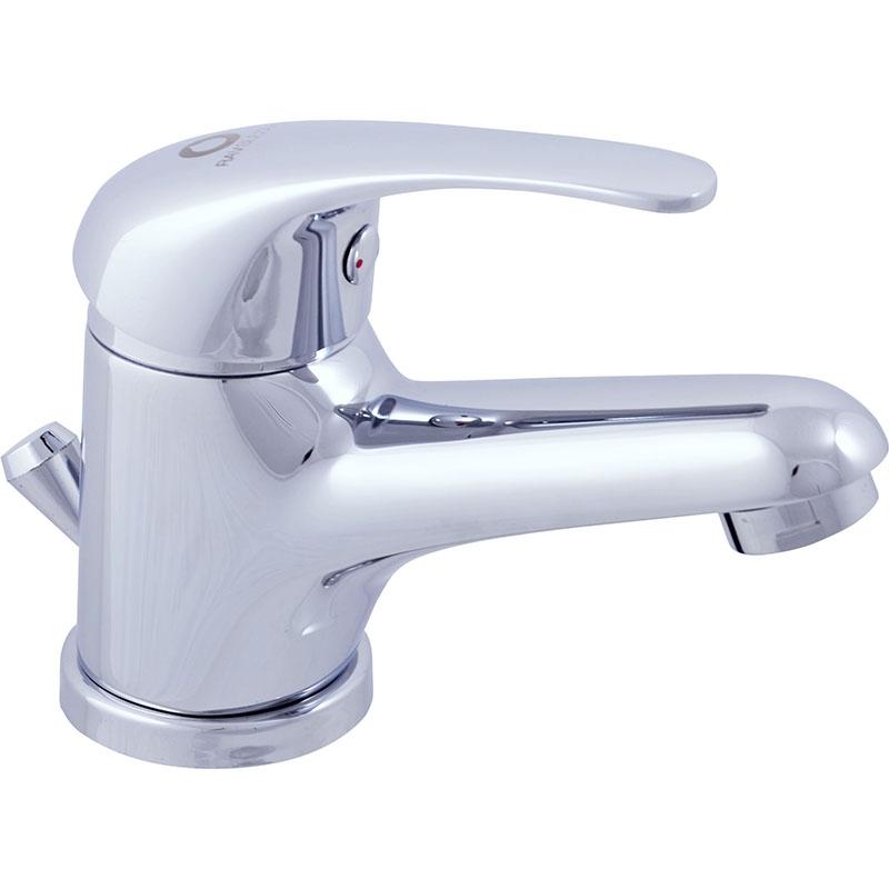Sazava SA027.5 ХромСмесители<br>Смеситель для раковины Rav Slezak Sazava SA027.5 с донным клапаном.<br>Универсальный дизайн смесителя дополнит интерьер ванной комнаты в любом стиле.<br>Монолитный корпус смесителя изготовлен из качественной латуни с гладким покрытием цвета хром.<br>Керамический картридж Kerox (Венгрия) KA3502Е 35 мм.<br>Металлическая рукоятка.<br>Донный клапан с рычажным управлением.<br>Гибкая подводка G 1/2.<br>В комплекте поставки: смеситель, набор креплений.<br>