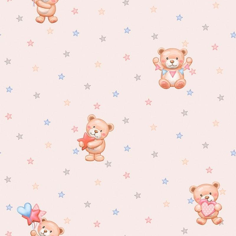 Обои детские Alessandro Allori Dolce Vita 2409-5 Винил на флизелине (1.06*10,05) Розовый/Разноцветный, Мультимедия