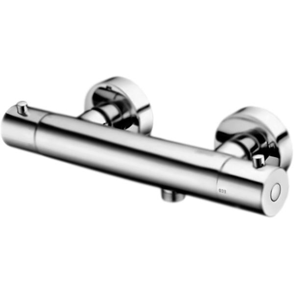 Berkel Thermo 4822 ХромСмесители<br><br>Настенный термостат для душа Wasser Kraft Berkel Thermo 4822 монтируемый в два отверстия.<br><br><br>Современный дизайн: плавные обтекаемые формы соединены с четкими и прямыми линиями.<br>Экономия: ограничитель расхода воды.<br>Подключение горячей воды только слева, холодной воды только справа.<br>Покрытие: хромоникелевое.<br>Материал: высококачественная латунь.<br>Механизм: термостатический картридж Vernet (Франция).<br>Защита от обратного потока: клапаны Neoperl.<br>Эксцентрики с фильтром.<br>Стандарт подключения: G 1/2.<br><br><br>В комплекте поставки:<br>смеситель;<br>комплект креплений.<br><br>