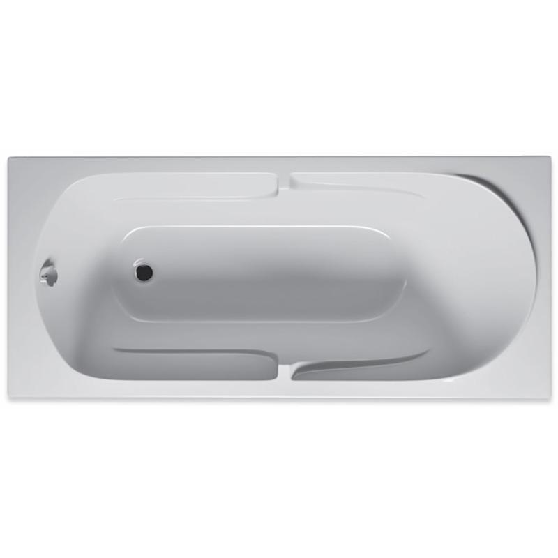 Акриловая ванна Riho Future 170x75 без гидромассажа ванна из искусственного камня jacob delafon elite 170x75 с щелевидным переливом e6d031 00 без гидромассажа