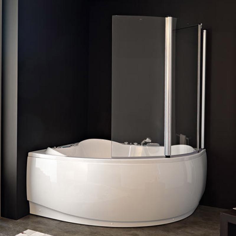 Sole TP 143 Loco Хром LДушевые ограждения<br>Шторка на ванну Kolpa San Sole TP 143 Loco.<br>Левосторонняя.<br>С фиксированной и распашной частями.<br>Распахивается внутрь и наружу.<br>Размер: 143x140 см.<br>Алюминиевый профиль, закаленное прозрачное стекло толщиной 6 мм.<br>Двухлепестковый уплотнитель обеспечивает герметичность.<br>