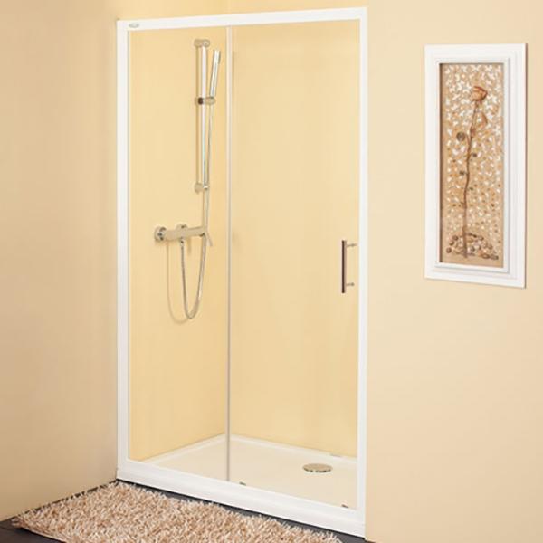 Q line TV/2D 100 ХромДушевые ограждения<br>Душевая дверь в нишу Kolpa San Q line TV/2D 100 с одной раздвижной дверью.<br><br>Профиль:<br>Материал: алюминий.<br>Цвет профиля: хром.<br>Покрытие Silver Brill: высококачественная гальваническая полировка.<br>Высокая герметичность.<br>Магнитный профиль.<br><br>Стекло:<br>Прозрачное закаленное стекло.<br>Толщина: 6 мм.<br>Двойные съемные ролики обеспечивают плавное открытие и закрытие дверцы.<br><br>Непревзойденное качество, подтвержденное европейским сертификатом.<br>