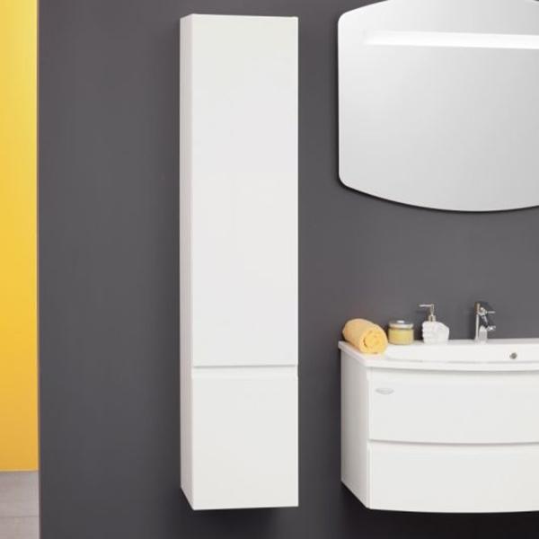 IMAN I1650 WH БелыйМебель для ванной<br>Шкаф-пенал Kolpa San IMAN I1650 WH подвесной.<br>Габариты: 30x35x165 см. <br>Материал: ДСП с лакированным покрытием. <br>Гладкая поверхность. <br>Влагостойкие клеи и угловые ленты. <br>Две распашные дверцы. <br>Безупречное качество, подтвержденное европейским сертификатом. <br>Цвет: белый.<br>
