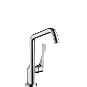 Citterio 39850000 ХромСмесители<br>Смеситель для кухни Axor Citterio 39850000, однорычажный. С неподвижным изливом, поворотный излив, керамический узел смешивания, расход воды 13 л/мин, аэратор QuickClean. Подходит для работы с проточным водонагревателем.<br>