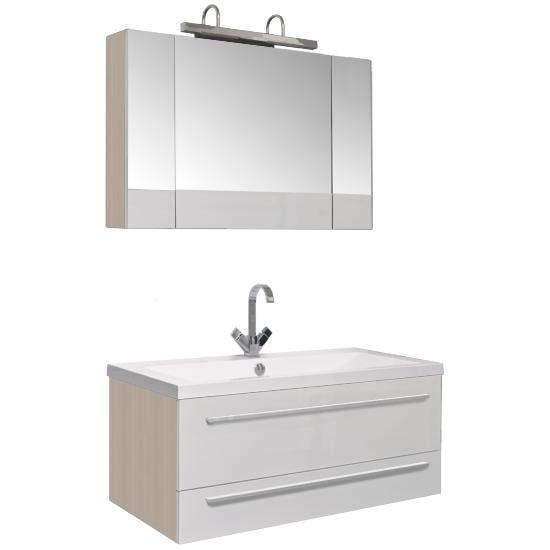 Нота 100 Камерино светлый дубМебель для ванной<br>Мебель для ванной Акванет 171497 Нота 100 Камерино. В стоимость входит тумба. Цвет: светлый дуб. Раковина, зеркало, светильник, подкатная тумба и пенал приобретаются отдельно.<br>