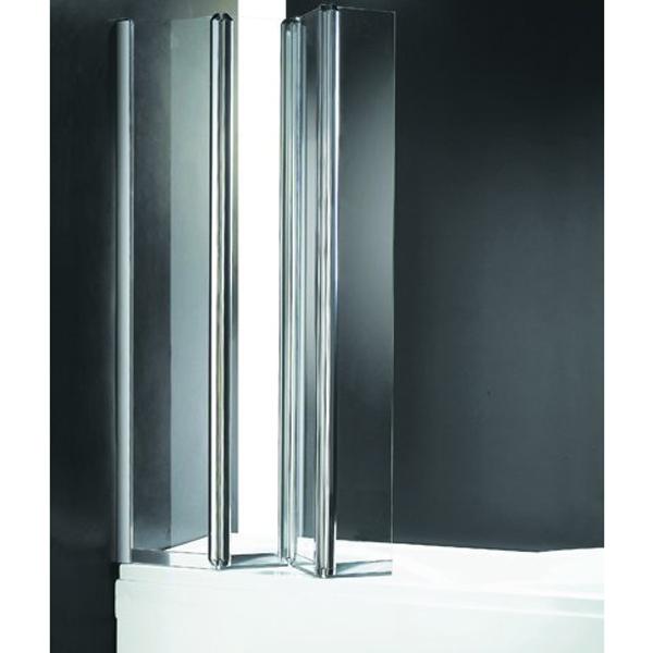 Шторка на ванну Cezares Trio V-3 90x140 L профиль Хром стекло рифленое фото