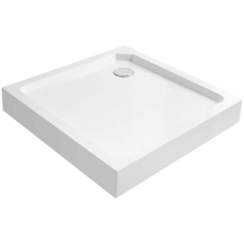 Tray M A 80x80x2 БелыйДушевые поддоны<br>Душевой поддон из стеклокомпозита Cezares Tray M A 80x80x2 Tray-M-A-80-15-W квадратный, низкий.<br>Прочность, эстетичность и долговечность.<br>Материал: SMC (Sheet Molding Compound или стеклопластик).<br>Твердость поверхности не уступающая стеклу.<br>Выдерживает значительные механические нагрузки.<br>Низкая теплопроводность поддерживает комфортную температуру.<br>Неприхотливость в уходе.<br>Диаметр сливного отверстия: 9 см.<br>Монтаж: на пол/на подиум.<br>Регулируемые ножки.<br>В комплекте поставки:<br>душевой поддон; <br>ножки.<br>