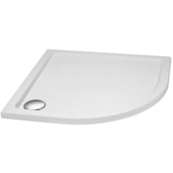Tray M R 80x80x4 БелыйДушевые поддоны<br>Душевой поддон из стеклокомпозита Cezares Tray M R 80x80x4 Tray-M-R-80-550-35-W радиальный, в форме четверти круга, низкий.<br>Прочность, эстетичность и долговечность.<br>Материал: SMC (Sheet Molding Compound или стеклопластик).<br>Твердость поверхности не уступающая стеклу.<br>Выдерживает значительные механические нагрузки.<br>Низкая теплопроводность поддерживает комфортную температуру.<br>Неприхотливость в уходе.<br>Радиус: 55 см.<br>Диаметр сливного отверстия: 9 см.<br>Монтаж: на/в пол/подиум, в угол.<br>В комплекте поставки:<br>душевой поддон.<br>