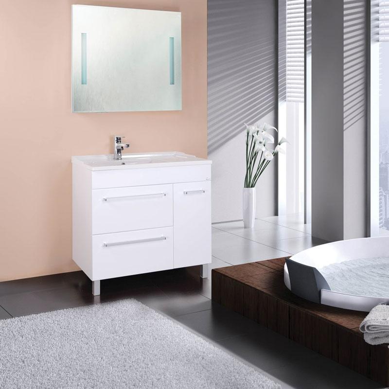 Олимп 90 БелаяМебель для ванной<br>Тумба под раковину Onika Олимп 109015 шириной 90 см.<br>Превосходно сочетается в интерьере любой ванной комнаты в стилистике современного дизайна. Предназначена для использования в условиях повышенной влажности.<br><br>Цвет: белый.<br>Габариты корпуса тумбы (ШхВхГ): 89,7 х 83 х 44,8 см.<br>Тумба выполнена из влагостойкой МДФ.<br>Два вместительных выдвижных ящика, одна распашная дверца с полочкой.<br>Фурнитура: доводчики с механизмом плавного закрывания и хромированные оригинальные ручки.<br>Ножки регулируемые: передние из металла цвета хром, задние из пластика.<br>Установка напольная.<br>В комплекте поставки: тумба.<br><br>