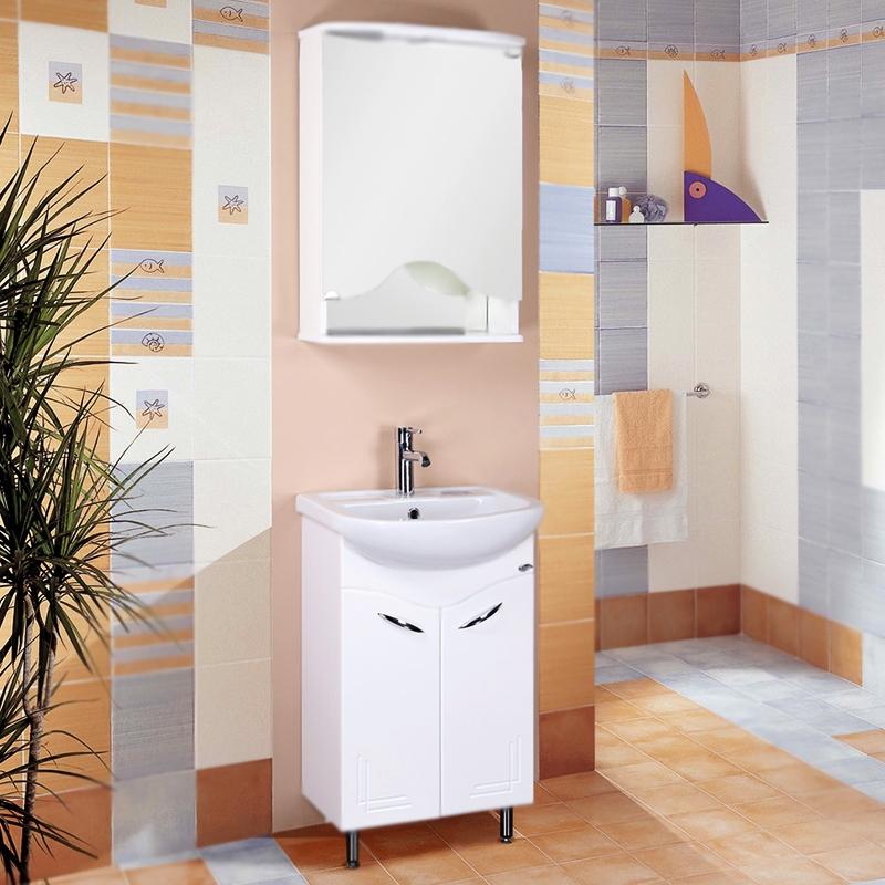 Лада 50 БелаяМебель для ванной<br>Напольная тумба под раковину Onika Лада 50 105002 с двумя распашными дверцами. Надежная работа подвижных механизмов благодаря тщательно подобранной качественной фурнитуре. Мебель сертифицирована в соответствии с требованиями Российского законодательства. Предназначена для использования в ванных комнатах с повышенной влажностью.<br>Конструкция:                 <br><br>Цвет: белый.<br>Фасад: МДФ.<br>Корпус: ЛДСП глянец.<br>Фурнитура: хромированный металл.<br>Две передние ножки: хромированный металл, фиксированные.<br>Одна задняя ножка: пластик, регулировка по высоте до 5 см.<br>Отделение: две распашные дверцы.<br><br>В комплекте поставки:<br><br>тумба.<br><br>