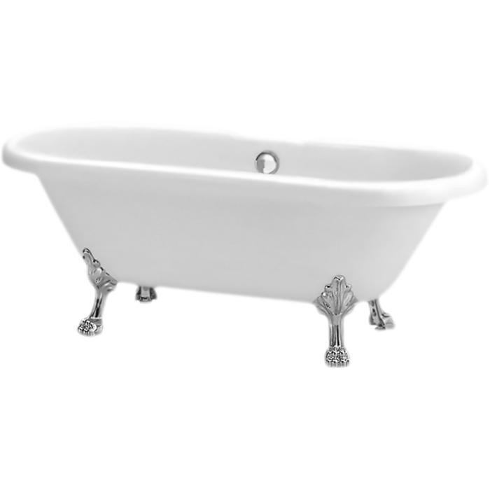BB21 177x80 с ножками Хром LionВанны<br>Акриловая ванна BelBagno BB21 177x80 отдельностоящая, на хромированных ножках в форме львиных лап, с удобными наклонами для спины с двух сторон. Элегантная, воздушная и очаровательная ванна создает атмосферу красоты и роскоши в ванной комнате.<br>Цвет чаши ванны: белый.<br>Цвет ножек: глянцевый хром.<br>Материал: высококачественный листовой акрил.<br>Прочность в сочетании с малым весом.<br>Эффективное звукопоглощение.<br>Акрил быстро нагревается и долго сохраняет тепло.<br>Гладкая, не скользкая и теплая на ощупь поверхность. <br>Неприхотливость в уходе.<br>Расположение слива: в центре.<br>Диаметр сливного отверстия: 5,5 см.<br>Вес: 45 кг.<br>В комплекте поставки:<br>чаша ванны; <br>комплект ножек BB-LEG-LION-CRM;<br>комплект кронштейнов для крепления ножек BB20-SUP.<br>