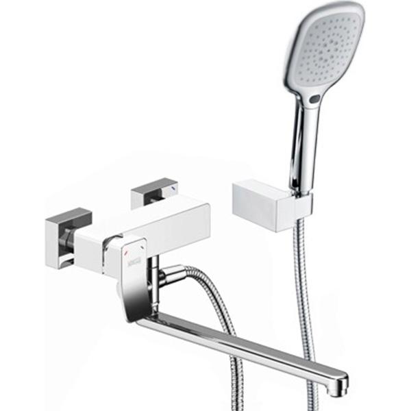 Смеситель для ванны WasserKRAFT Aller 1062LW универсальный Хром Белый фото