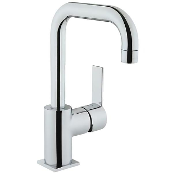 Flo S A41939EXP ХромСмесители<br>Смеситель для раковины Vitra Flo S A41939EXP.<br>Особенности: <br>Ограничение температуры и напора воды,<br>Поворотный излив,<br>Максимальный расход воды: 9 л/мин.<br>В комплекте поставки: <br>Смеситель. <br>