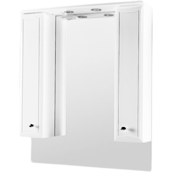 Зеркальный шкаф AM PM Bourgeois 85 с подсветкой Белый