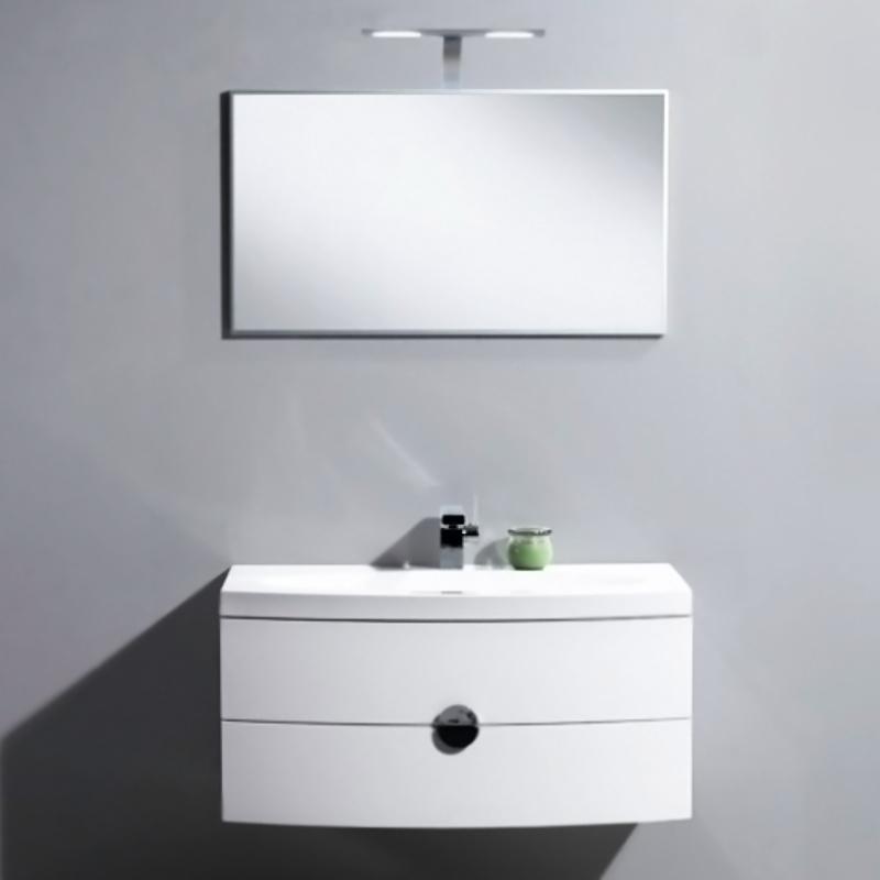 Senso 92 подвесная Bianco LucidoМебель для ванной<br>Тумба под раковину подвесная Belbagno Senso SENSO-920-2C-SO-BL с двумя выкатными ящиками, с доводчиками.<br>