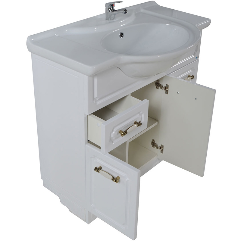 Тумба под раковину АСБ-мебель Астра НСВ Декор 75 Белая