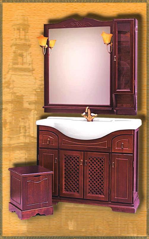 Clio 105 НагалМебель для ванной<br>Мебель для ванной Два Водолея Clio 105. Цвет нагал. В стоимость входит тумба. Все остальное приобретается отдельно.<br>
