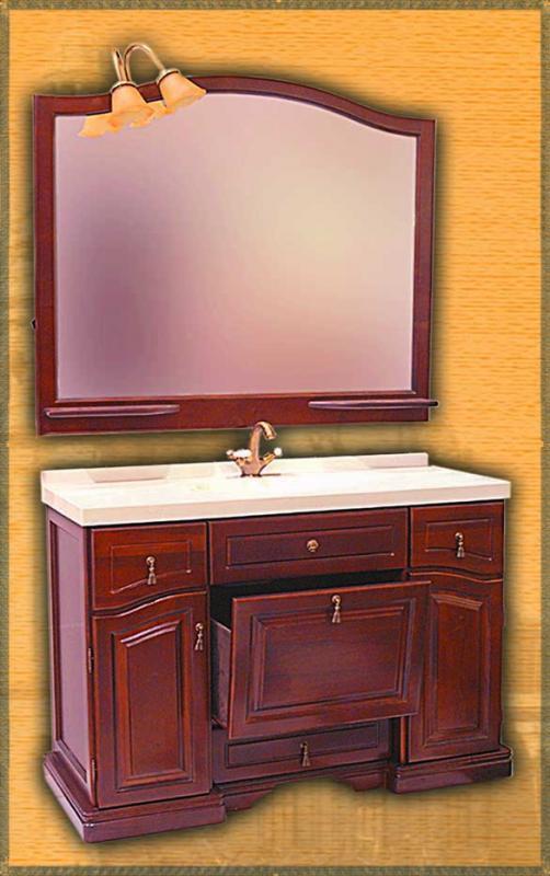 Clio 120 НагалМебель для ванной<br>Мебель для ванной Два Водолея Clio 120. Цвет нагал. В стоимость входит тумба. Все остальное приобретается отдельно.<br>