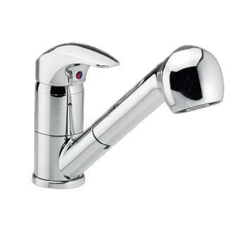 Space 10120 ХромСмесители<br>Damixa Space 10120 смеситель для кухни, с вытяжным душем, изливом 190мм., В комплекте: насадка-аэратор, заглушка для слива.<br>