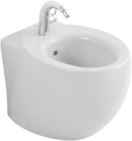 Aveo 742100R1 Белый альпин CeramicPlusБиде<br>Биде напольное Villeroy &amp; Boсh Aveo 742100R1. Цвет белый альпин. Покрытие Ceramic Plus - особо гладкая поверхность, на которой не остаются загрязнения и пыль. В комплект входят крепления для биде Villeroy&amp;Boch.<br>