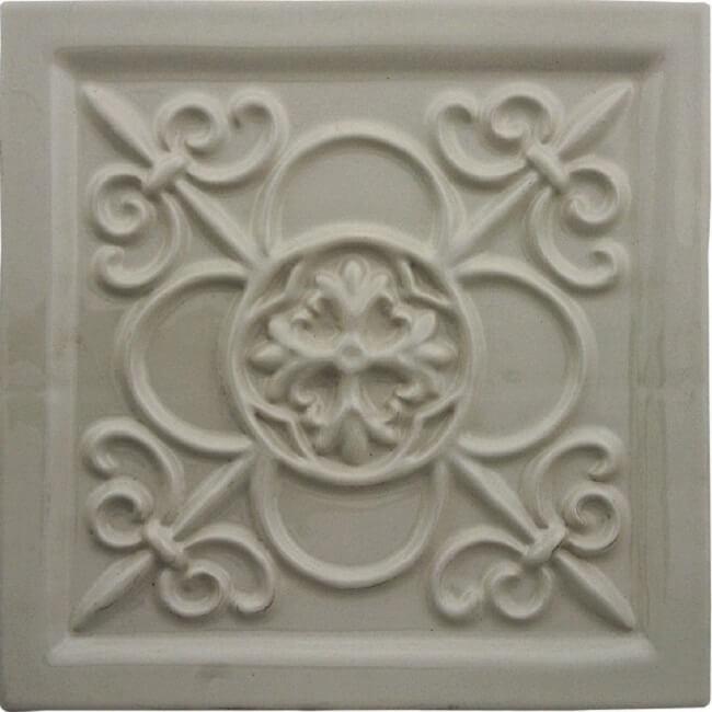 Керамический декор Adex Studio Relieve Vizcaya Graystone 14,8х14,8 см