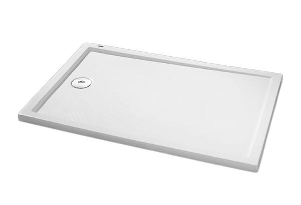 Purano 202158.055 Белый искусственный мраморДушевые поддоны<br>Прямоугольный поддон для душа Huppe Purano с интегрированной противоскользящей поверхностью. Цвет белый. Диаметр сливного отверстия: 90 мм (соответствует Евро-стандарту для плоских поддонов.<br>