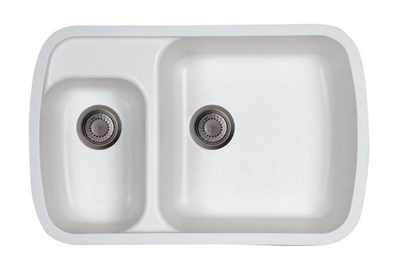 Karmen  БелаяРаковины<br>Раковина  для кухни Kolpa San Karmen с двумя отверстиями для перелива диаметром 90 мм.<br>