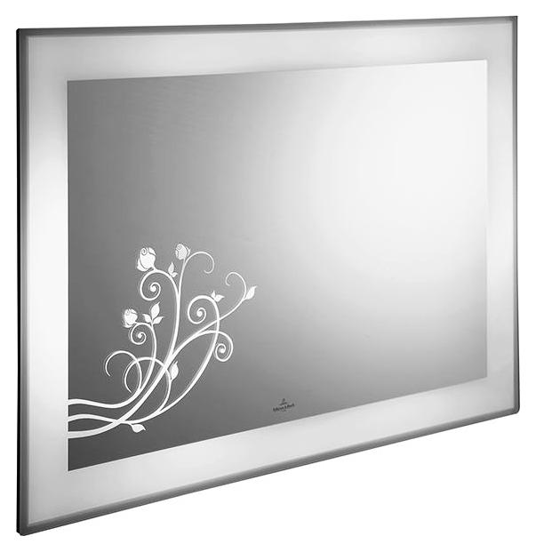 La Belle A337A500 зеркальное покрытие с декоромМебель для ванной<br>Зеркало Villeroy&amp;Boch La Belle A337A500 с декором, светодиодная подсветка.<br>