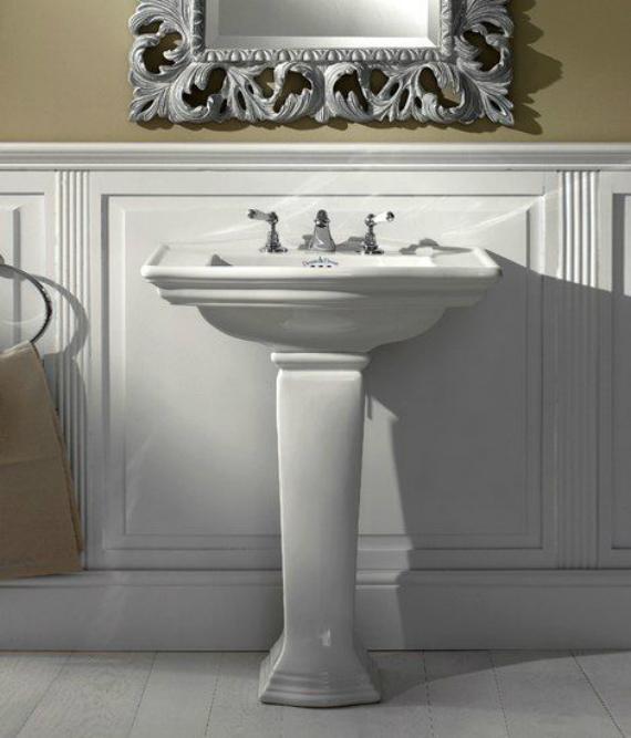 Westminster IBLG1FWES БелыйРаковины<br>Раковина для ванной комнаты Devon Devon Westminster 68.5х48см с 1 отверстием, белая. Расположение крыла: двустороннее. Цвет белый.<br>