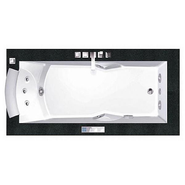 Акриловая ванна Jacuzzi Aura Uno 180x90 Corian 9443-734A Венге
