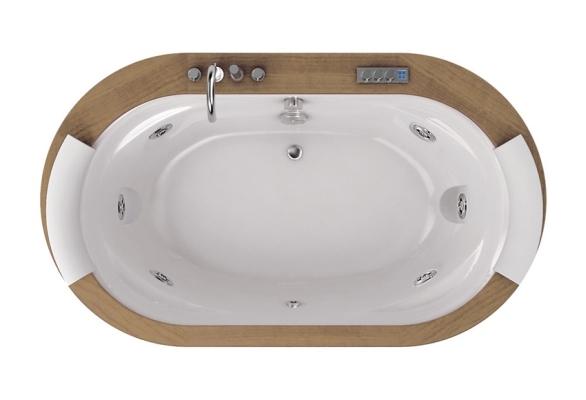 Фото - Акриловая ванна Jacuzzi Opalia 190x110 wood 9F43-498A Тик акриловая ванна jacuzzi aura 9f43 337a aura plus 180x150