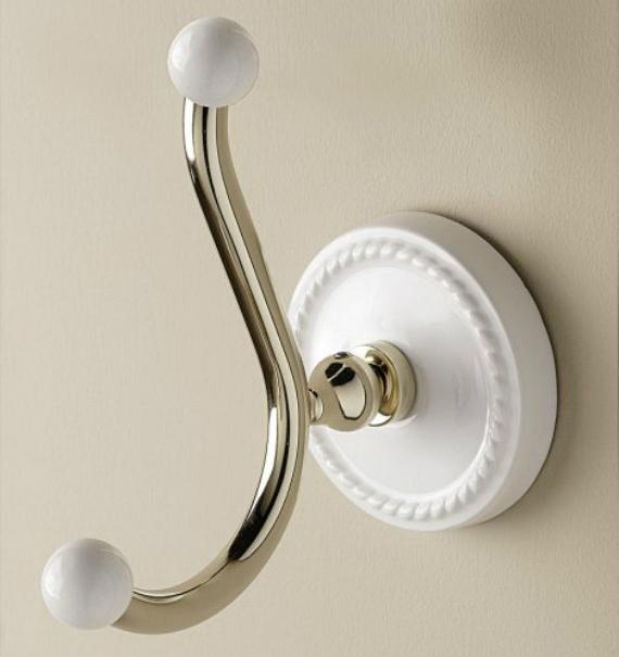 Dorothy DOR413CR Белый/хромАксессуары для ванной<br>Крючок Devon &amp; Devon Dorothy для ванной комнаты. Материал: латунь, керамика. Оснащение: крепления.<br>