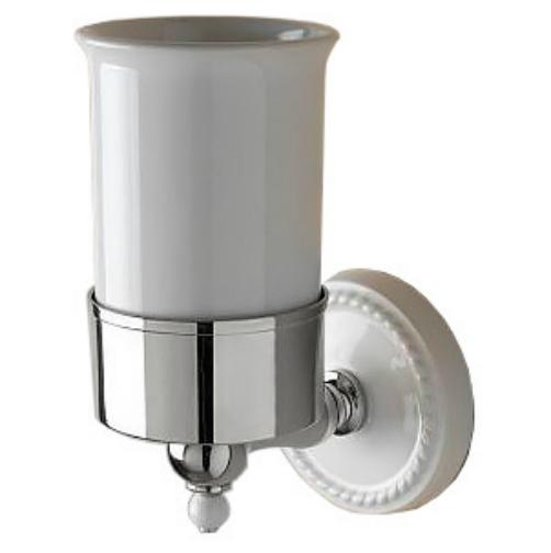 Dorothy DOR403CR Белый/хромАксессуары для ванной<br>Стакан подвесной DEVON&amp;DEVON Dorothy. Цвет белый/хром.<br>