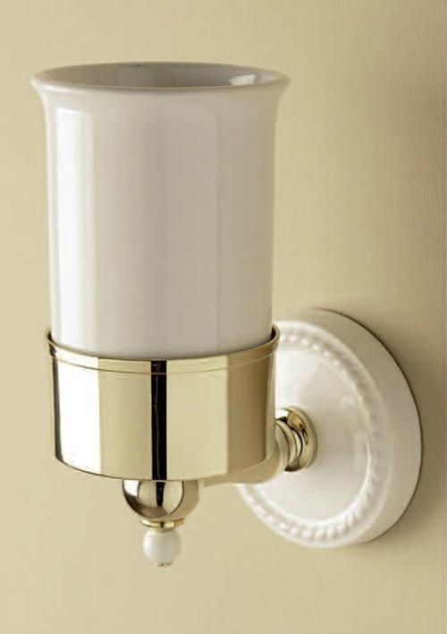 Стакан Devon&Devon Dorothy DOR403OT Белый/золото кольцо для полотенец светлое золото белый devon