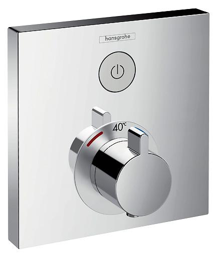 Select 15762000 ХромСмесители<br>Термостатический смеситель для душа HG Select 15762000.  Скрытая установка. Предохранительный ограничитель при 38°C.  Расход воды: 26 л/мин. В комплекте поставки только внешняя часть смесителя.<br>