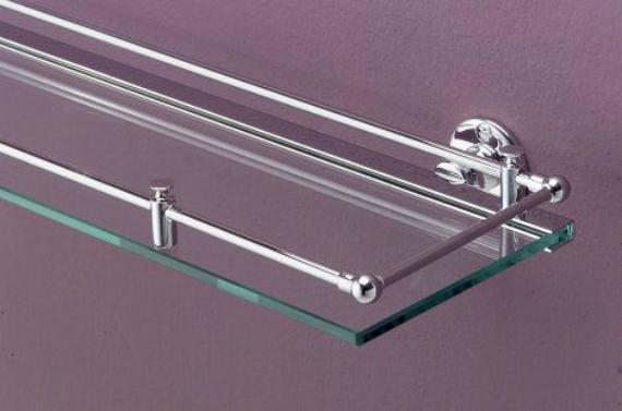 First Class DD33024CR ХромАксессуары для ванной<br>Открытая полочка Devon&amp;Devon First Class с бортиком выполнена из стекла в современном стиле. Каркас из металла в цвете хром. Крепится к стене.<br>