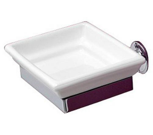 First class DD33010CR Белый/хромАксессуары для ванной<br>Мыльница Devon&amp;Devon First class выполнена из керамики в современном стиле. Крепится к стене.<br>