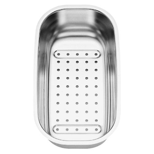 208195 хромКухонные мойки<br>Коландер из нержавеющей стали Blanco 208195. Коландер способен значительно упростить размораживание небольших продуктов, сушку столовых приборов, чистку овощей или мытье фруктов, применим в качестве дуршлага.<br>