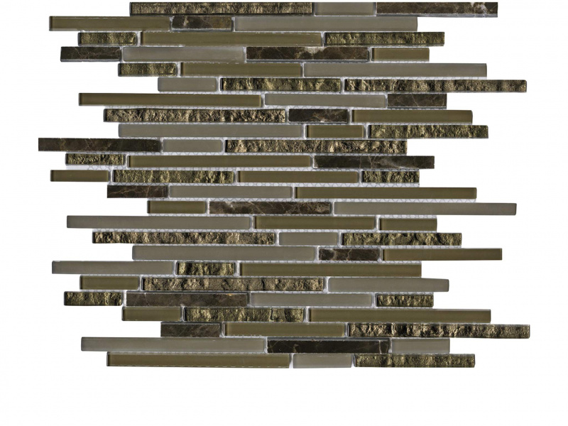 Мозаика L Antic Colonial Mosaico Eternity Mini Strip Emperador 29,8х30,5 см