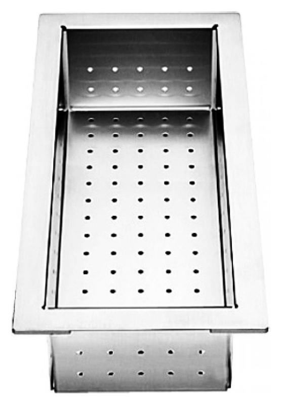 219649 хромКухонные мойки<br>Коландер из нержавеющей стали Blanco 219649. Коландер способен значительно упростить размораживание небольших продуктов, сушку столовых приборов, чистку овощей или мытье фруктов, также может использоваться в качестве дуршлага. Цена указана за коландер. Все остальное приобретается дополнительно.<br>