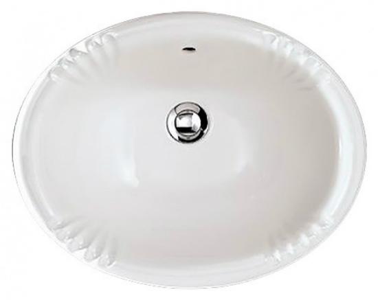 Victorian IBLIVIC БелыйРаковины<br>Накладная раковина Devon&amp;Devon Victorian. Вид раковины: врезная в столешницу. Форма раковины: круглая, овальная. Комплектация: перелив, раковина. Цвет изделия: белый.<br>