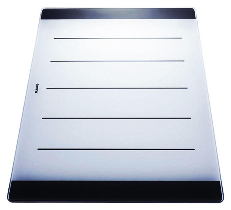 225124 белаяКухонные мойки<br>Разделочная доска Blanco 225124 из безопасного стекла. Подходит для моек Blanco серии Axia II. Цена указана за доску. Все остальное приобретается дополнительно.<br>