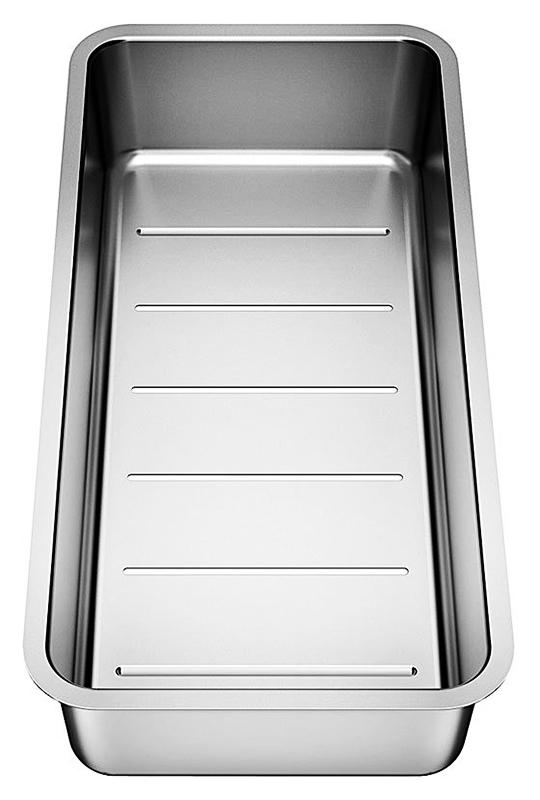 227692 хромКухонные мойки<br>Коландер из нержавеющей стали Blanco 227692. Коландер способен значительно упростить размораживание небольших продуктов, сушку столовых приборов, чистку овощей или мытье фруктов, также может использоваться в качестве дуршлага. Подходит для моек Blanco серии Andano. Цена указана за коландер. Все остальное приобретается дополнительно.<br>