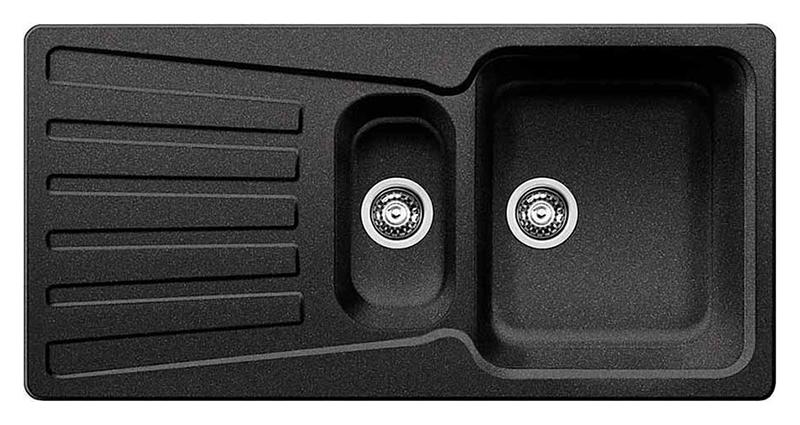 Nova 6 S 510462 антрацитКухонные мойки<br>Кухонная мойка Blanco Nova 6 S 510462 врезная. Вместительная основная чаша с дополнительной чашей и широким крылом. Для установки в шкаф шириной от 60 см. Цена указана за мойку. Все остальное приобретается дополнительно.<br>