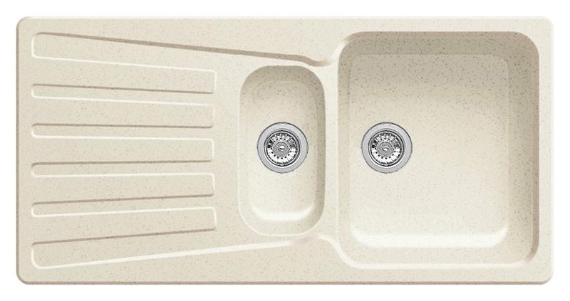 Nova 6 S 510579 жасминКухонные мойки<br>Кухонная мойка Blanco Nova 6 S 510579 врезная. Вместительная основная чаша со второй чашей и широким крылом. Для установки в шкаф шириной от 60 см.<br>
