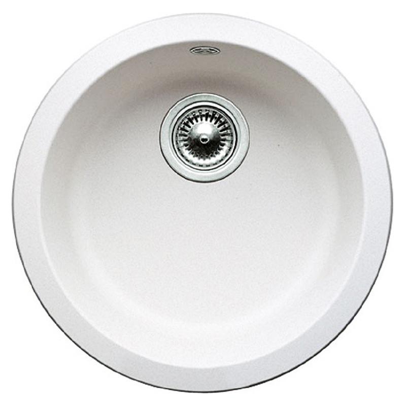 Rondo 511621 белаяКухонные мойки<br>Кухонная мойка Blanco Rondo 511621 врезная, 1 чаша. Для установки в шкаф шириной от 45 см. Возможна установка под столешницу.<br>