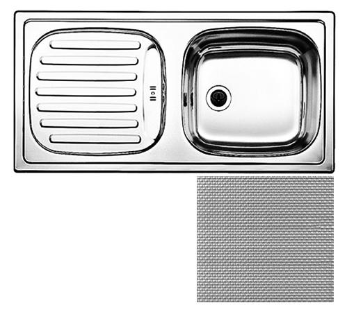 Flex mini 512032 нержавеющая сталь декорированнаяКухонные мойки<br>Кухонная мойка Blanco Flex mini 512032 врезная, 1 чаша с крылом. Монтаж в один уровень под столешницу. Для установки в шкаф шириной от 45 см.<br>