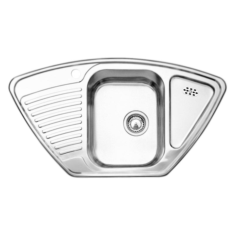 Tipo 9 E 513552 нержавеющая сталь декорированнаяКухонные мойки<br>Кухонная мойка Blanco Tipo 9 E 513552 врезная. Большой размер чаши, функциональный дизайн. Монтаж в один уровень под столешницу. Для установки в шкаф шириной от 60 см - 90x90 см. Нужно учитывать ширину пристенного канта в случае установки мойки возле стены или пенала.<br>